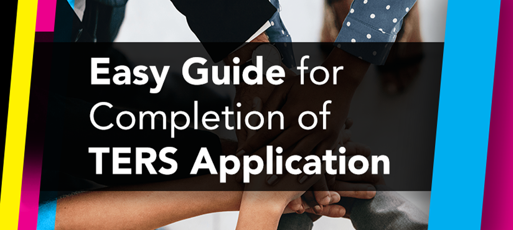 Easy Guide for Completion of TERS Application